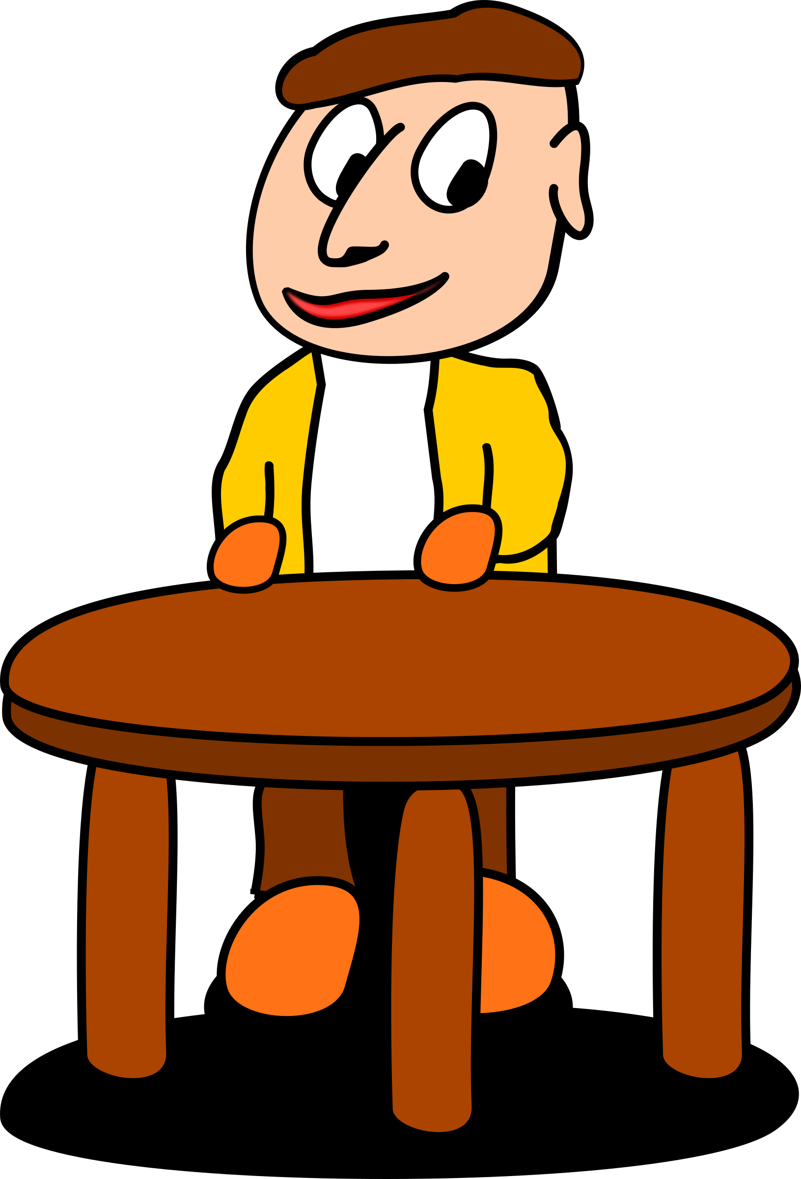 Standing at the big. Clipart table brown table
