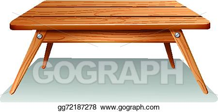 Clipart table brown table. Vector a illustration
