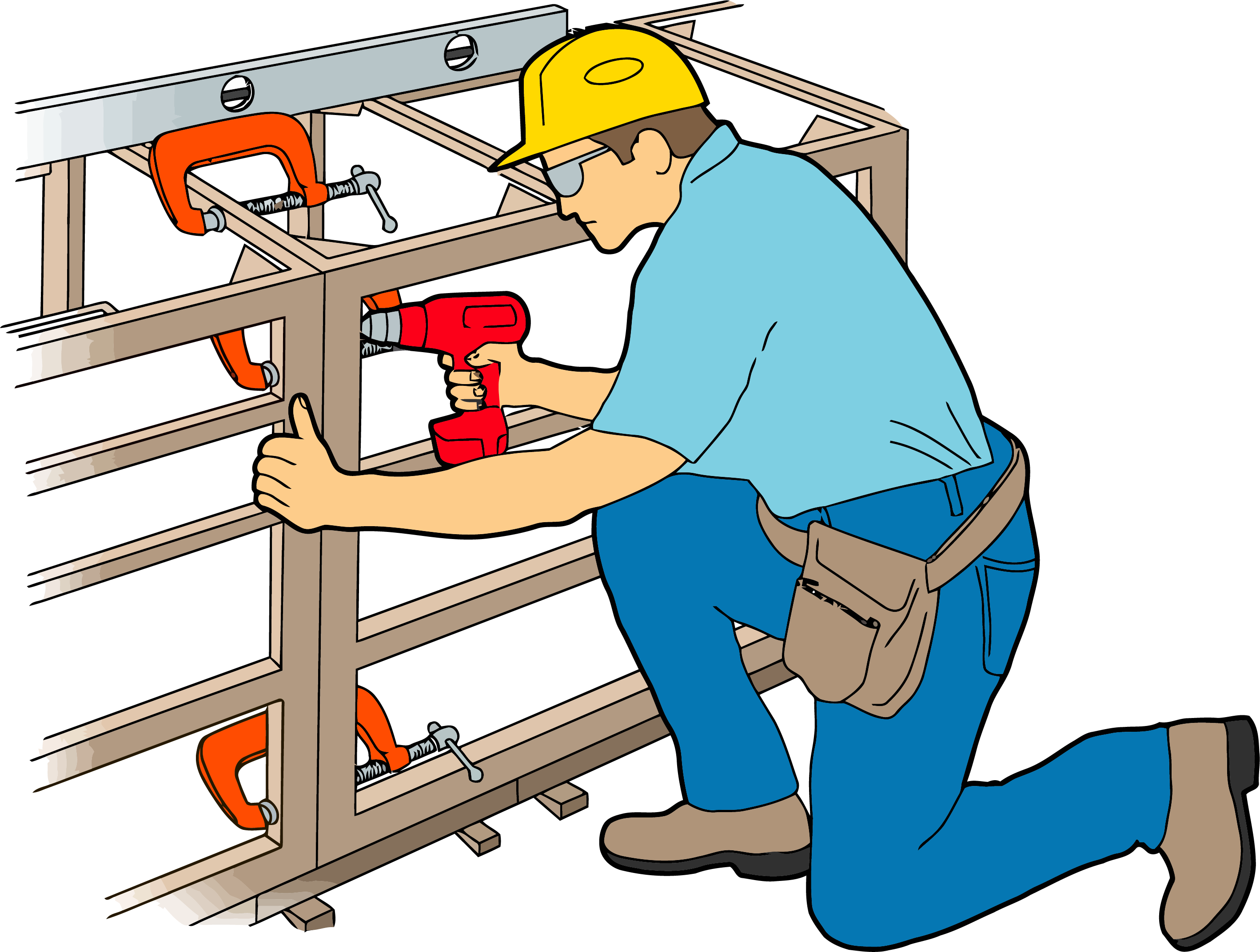 Cabinet work png clipartly. Carpenter clipart