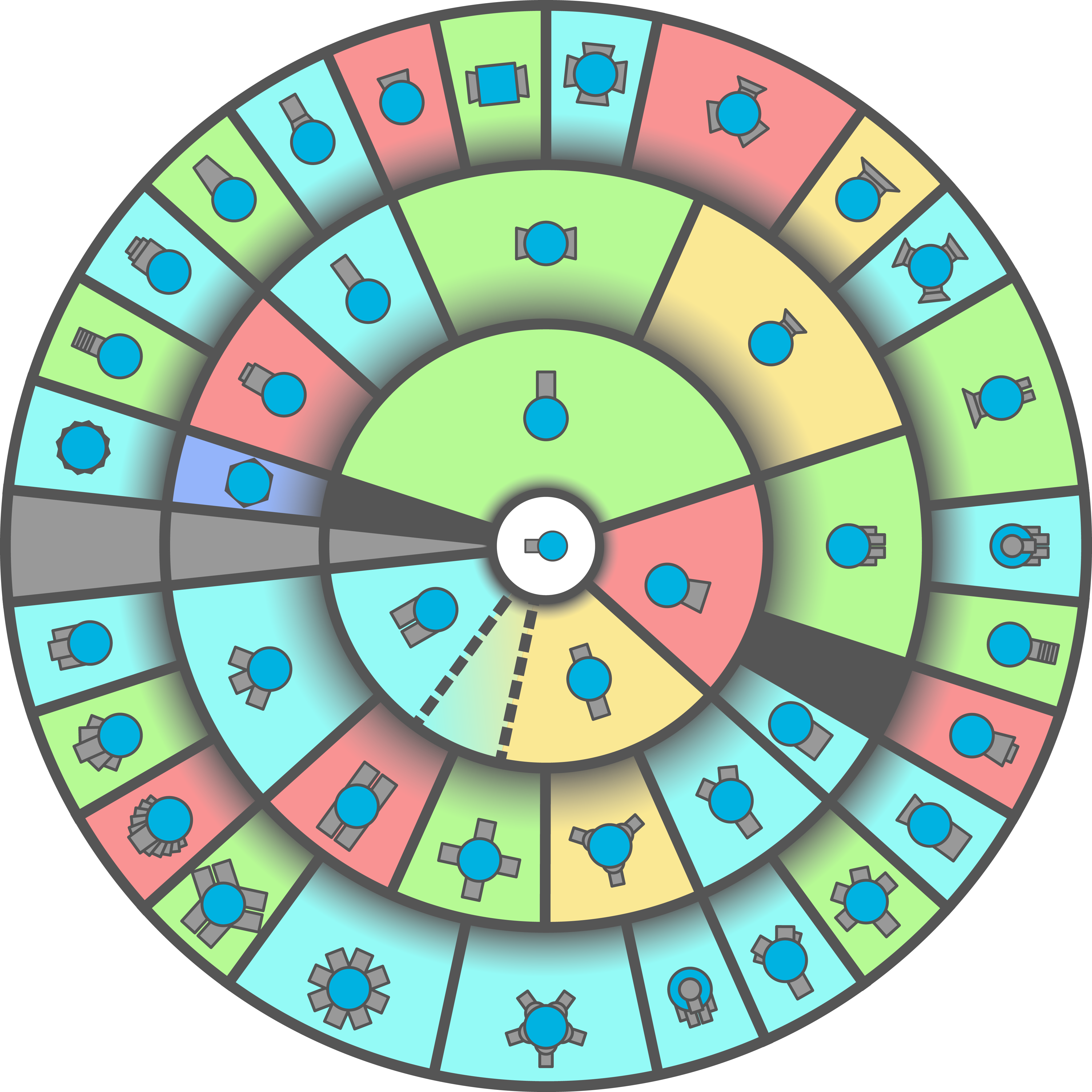 Clipart table class table. Pie circle updated diepio