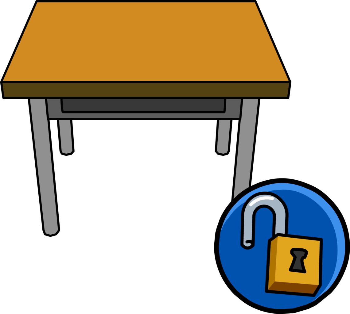 Image unlockable icon png. Desk clipart classroom full