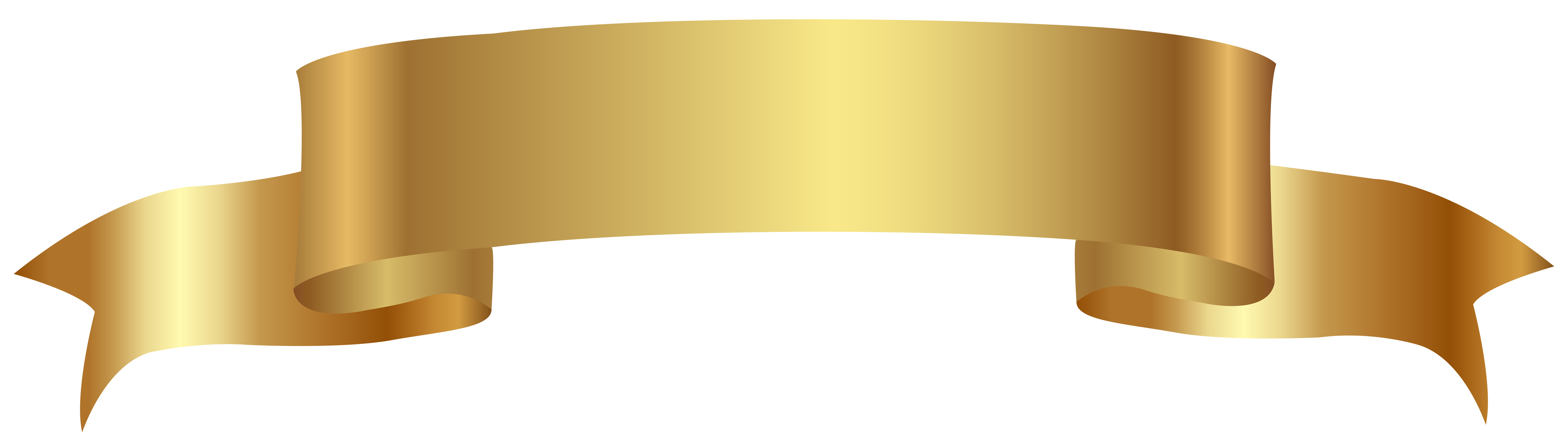 Gold banner png image. Desk clipart transparent background