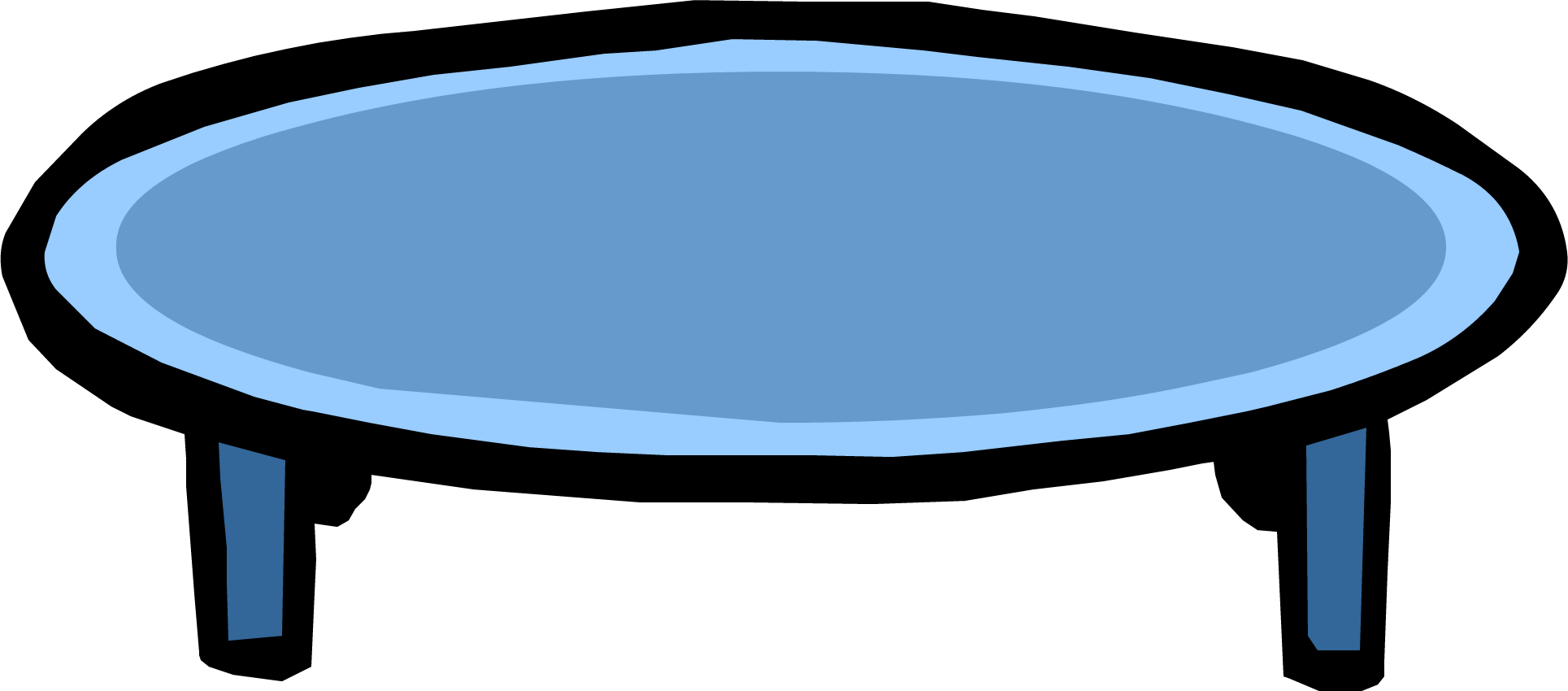 Blue club penguin wiki. Clipart table coffee table
