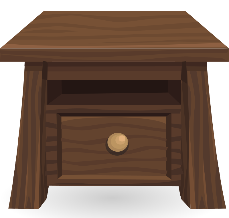Wooden side from glitch. Clipart table coffee table