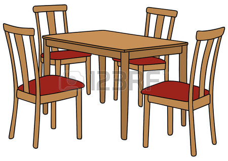 Table and chairs free. Furniture clipart dining area