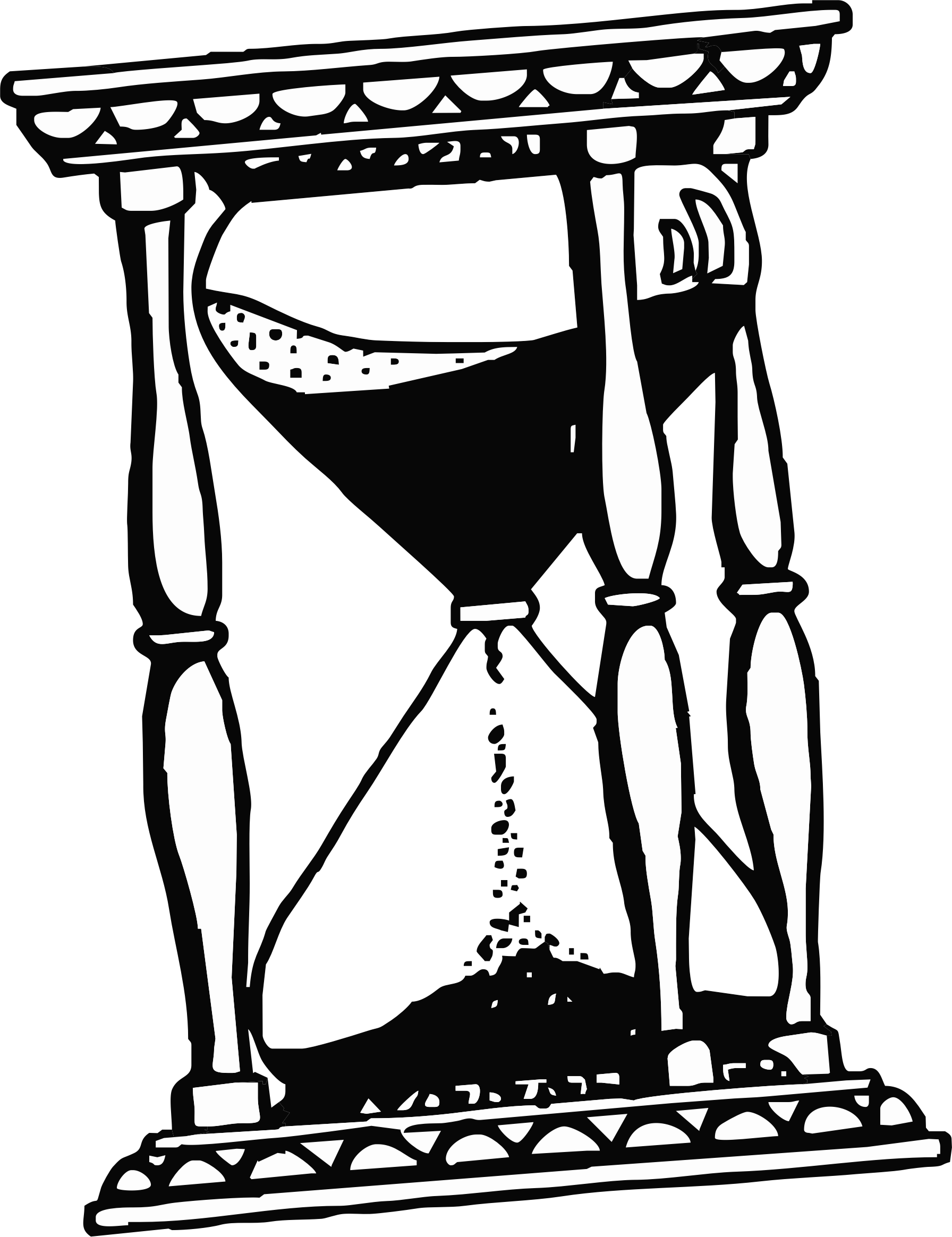 Hourglass big image png. Clipart table drawing