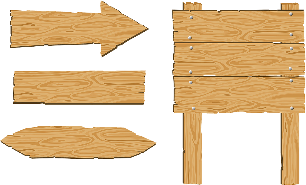 Wood clip art sign. Clipart table drawing