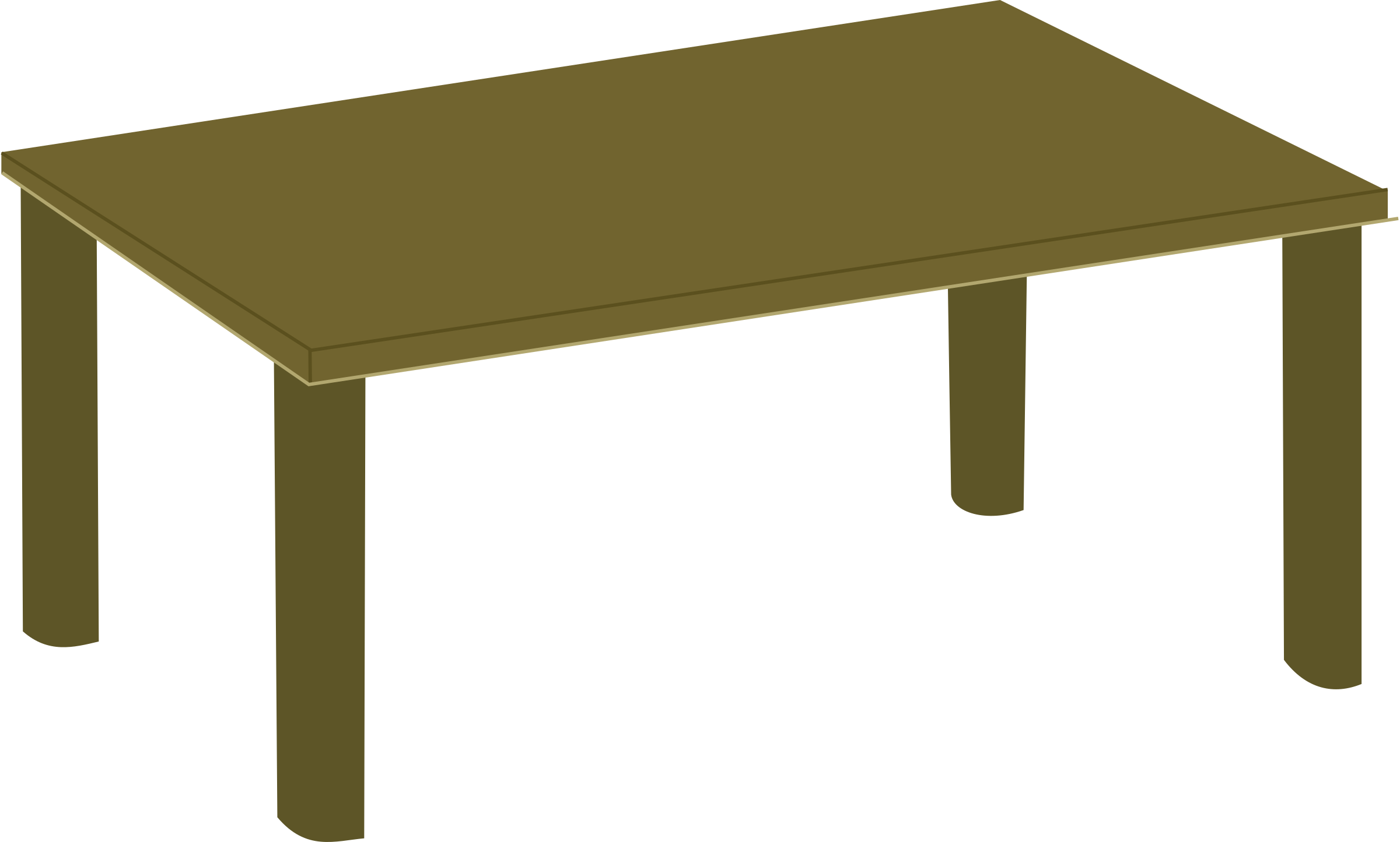 Furniture clipart animated. Wooden table agreeable wood
