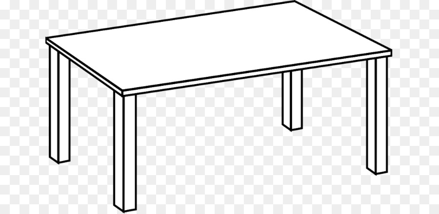 Clipart table drawing. White background illustration
