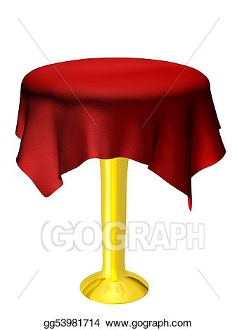 Clipart table empty table. Stock illustrations with red