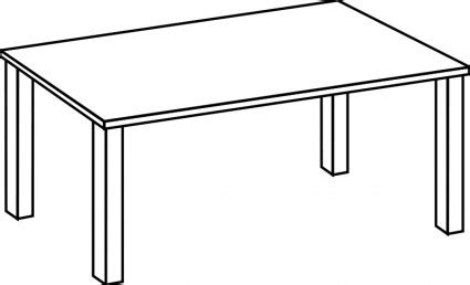 Brown objects pencil and. Clipart table empty table