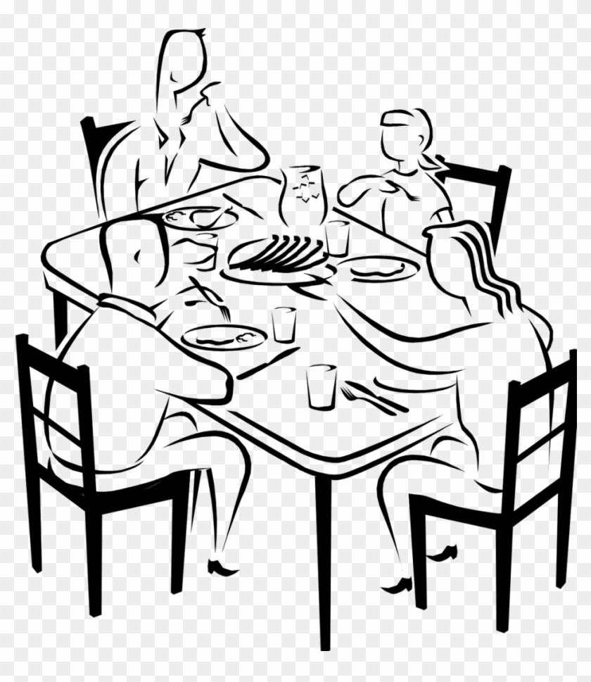 dinner black and. Clipart table fancy table