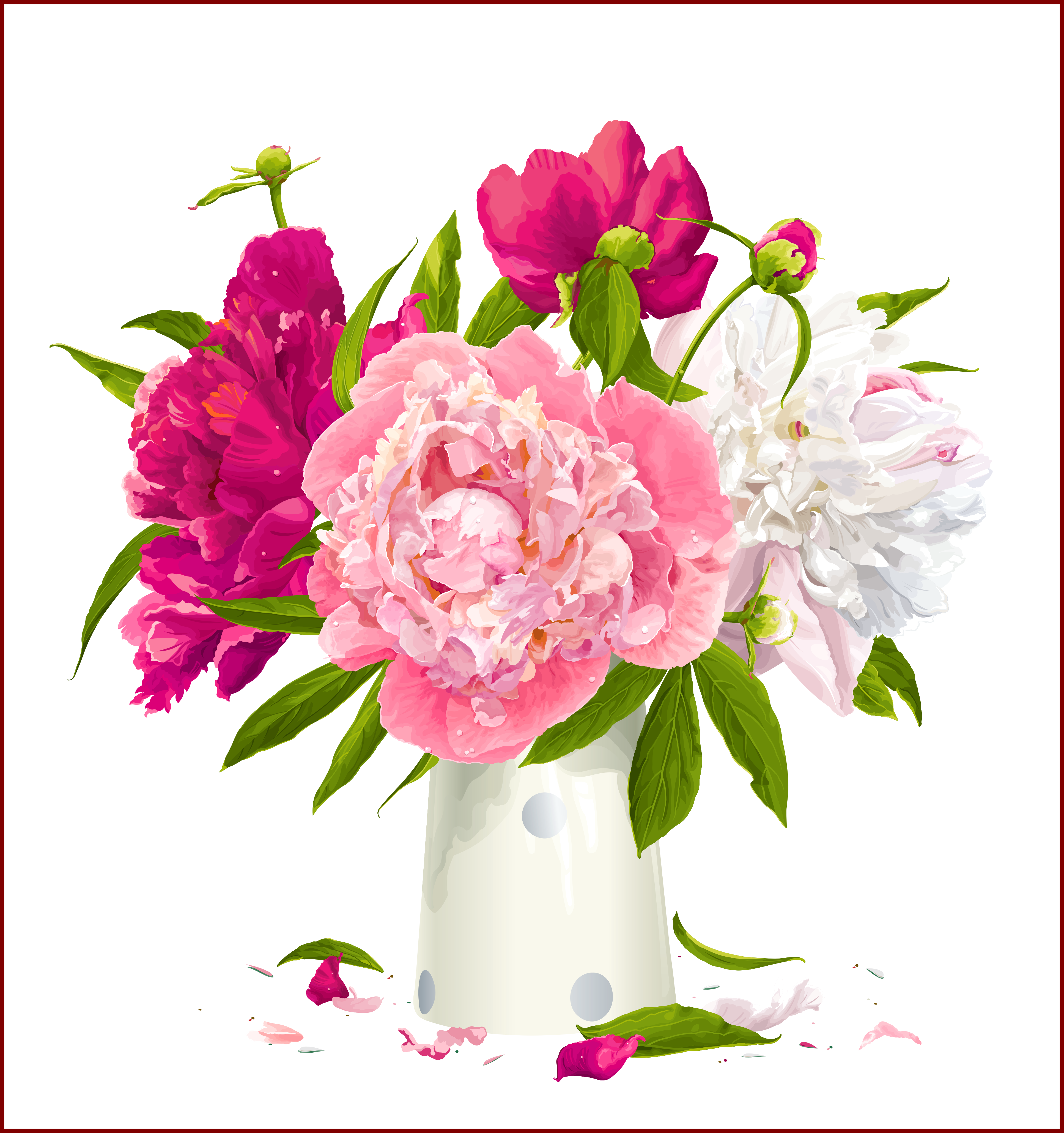 Flowers clipart beautiful.  ideas of peony