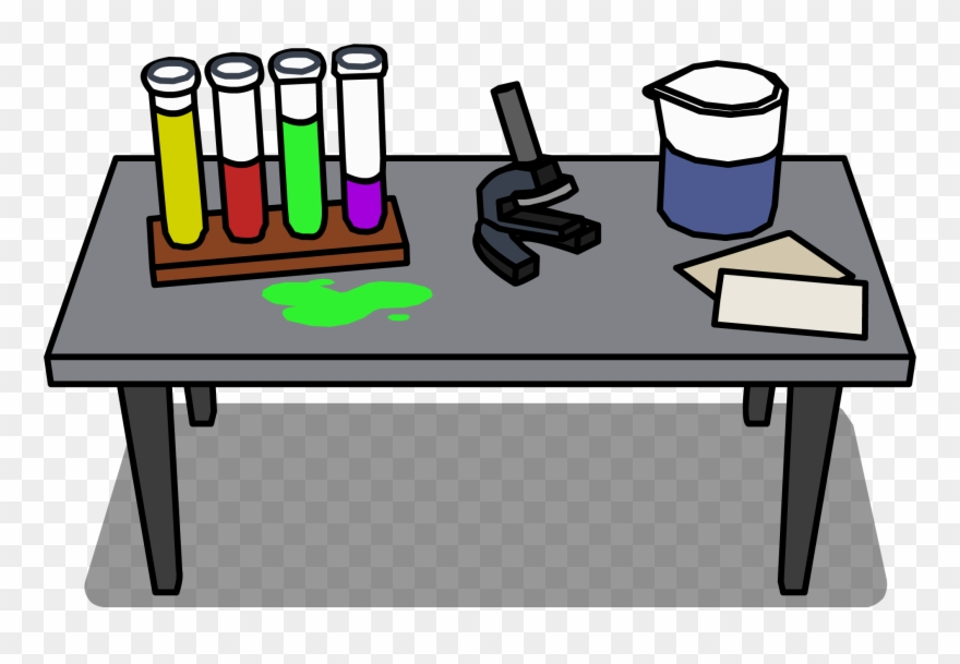 Laboratory sprite table transparent. Lab clipart desk