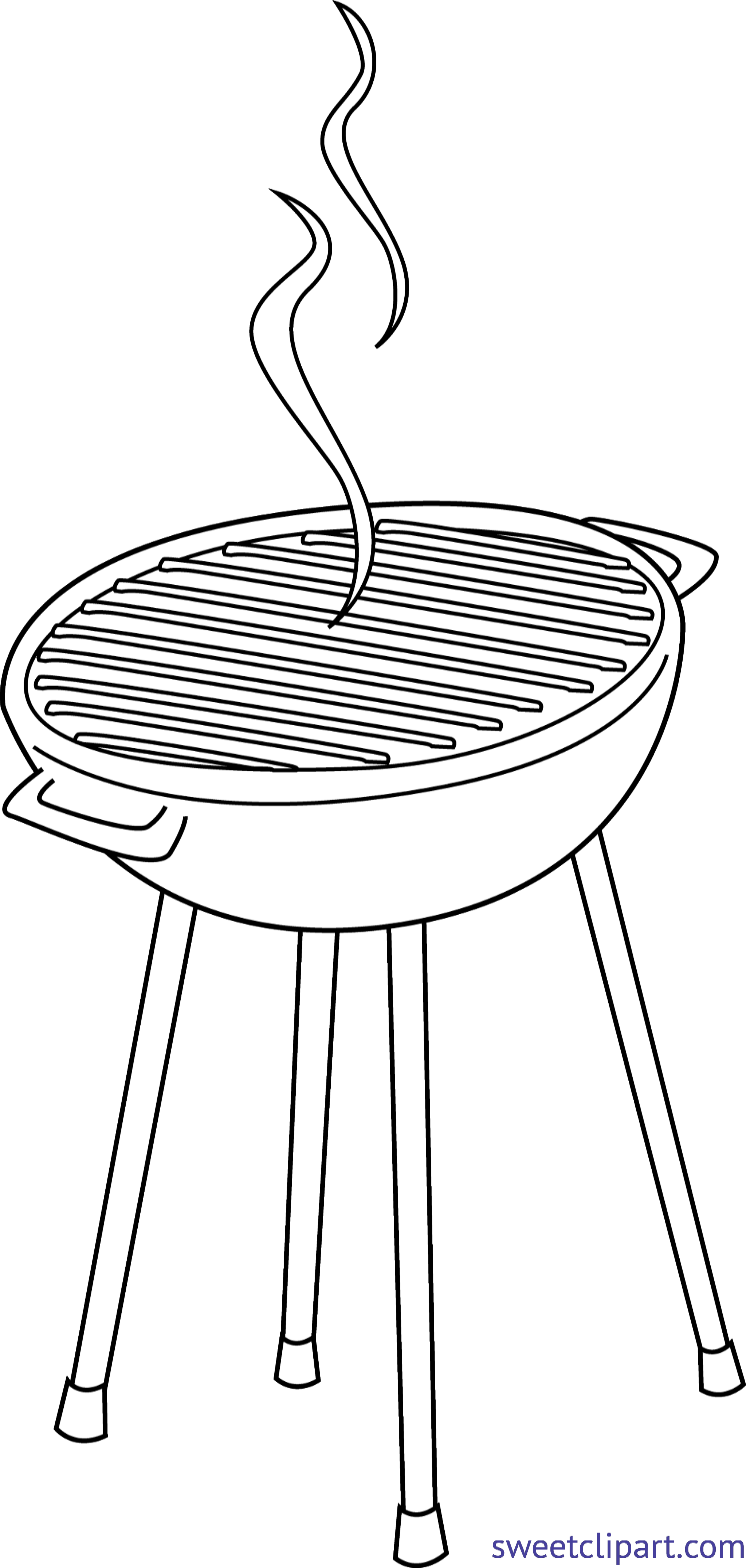 Grill lineart clip art. Drink clipart bbq