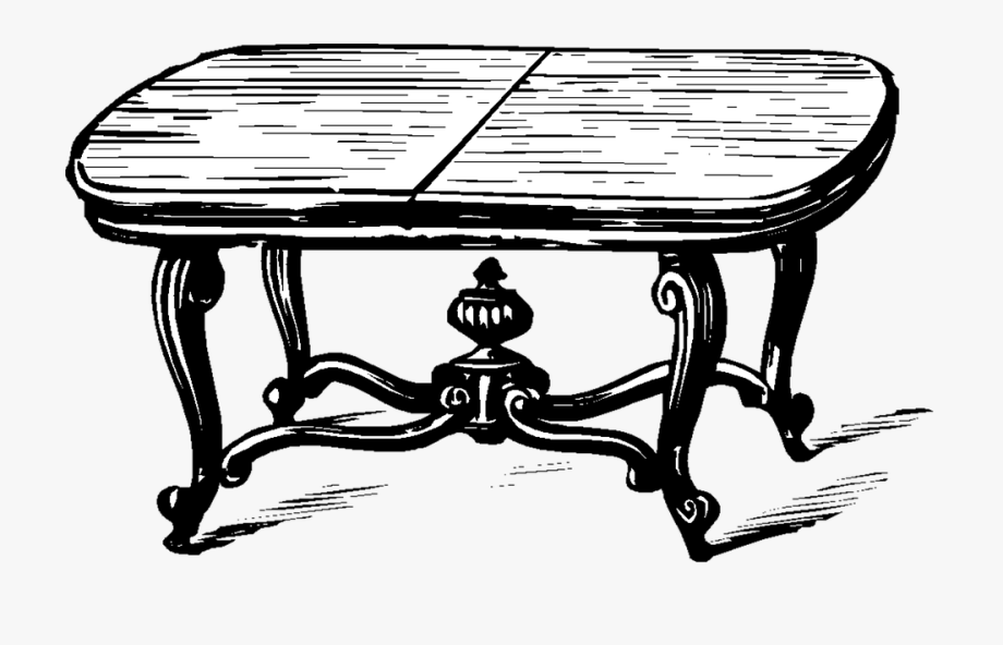 Clipart table old table. Png living room black