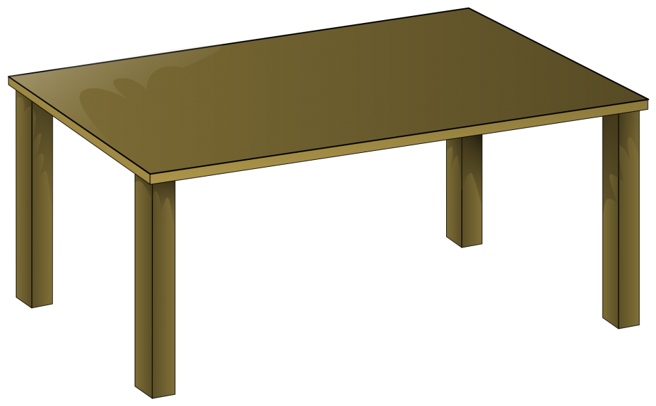 Alluring table panda free. Furniture clipart vector