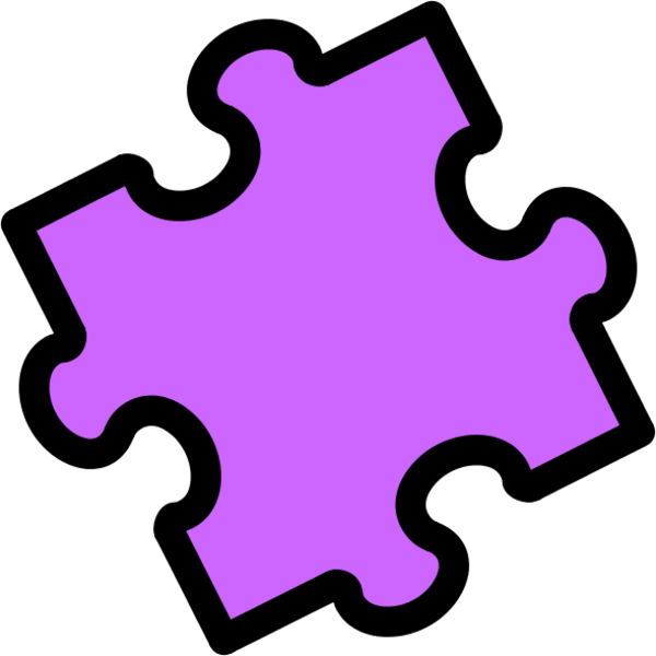Another piece of the. Puzzle clipart purple