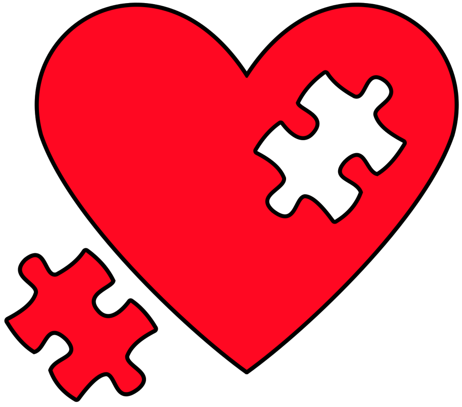 Heart art of ideas. Puzzle clipart aspergers