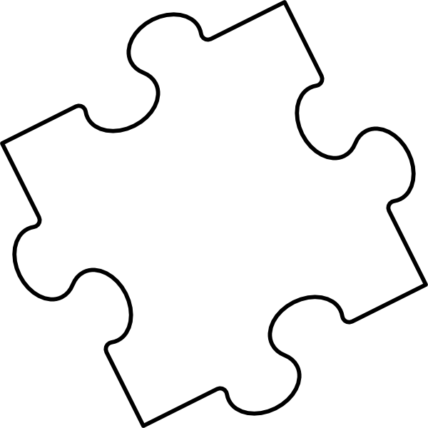 Puzzle clipart integrated. Blank piece clip art