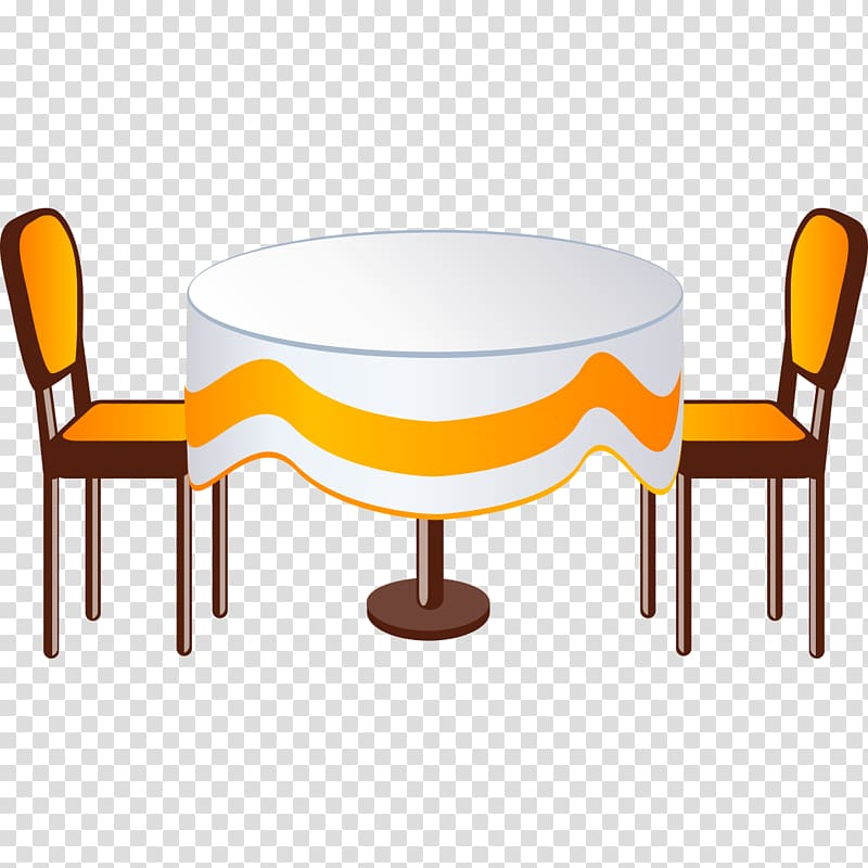 Creative round dining transparent. Furniture clipart dinning table