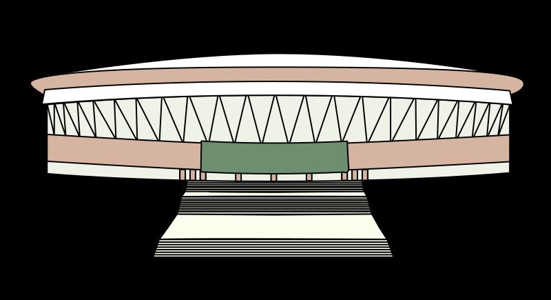 Fence clipart football stadium. Free simple clip art