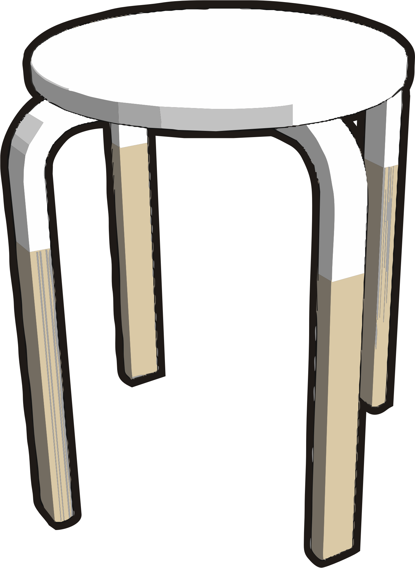 clipart table stool