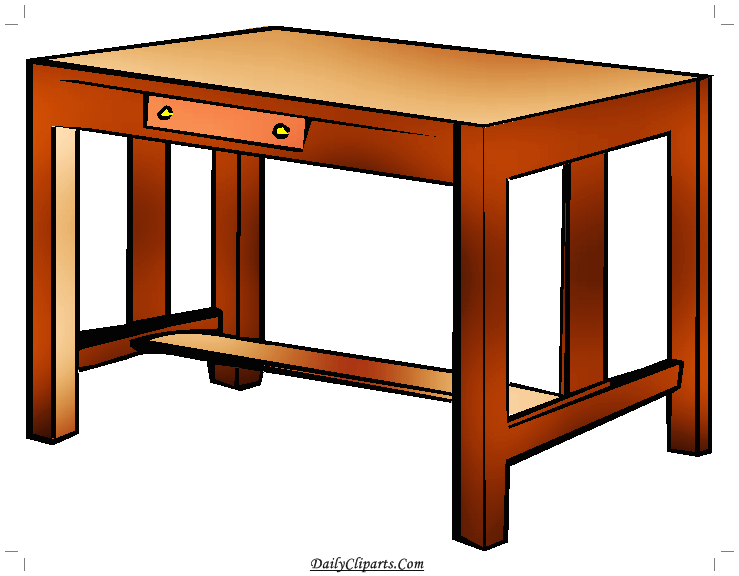 Image daily cliparts . Desk clipart study table