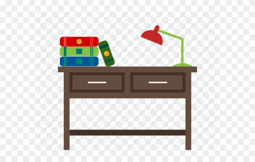 Cartoon png download . Desk clipart study table