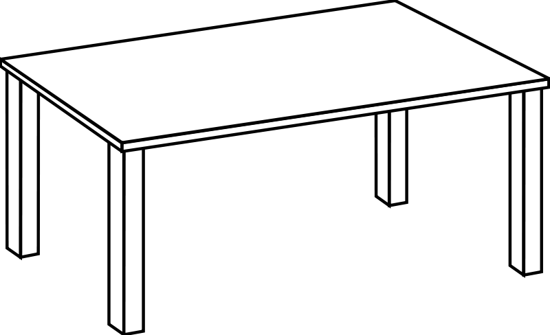 Free clip art line. Clipart table table outline