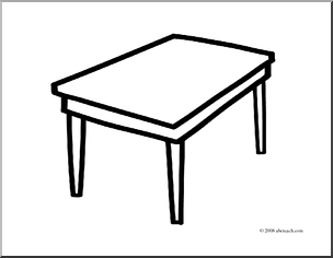 Clipart table table outline. Free cliparts download clip