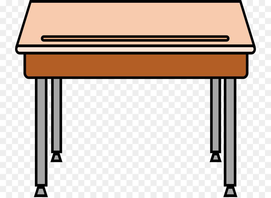 Cartoon rectangle transparent clip. Clipart table table student