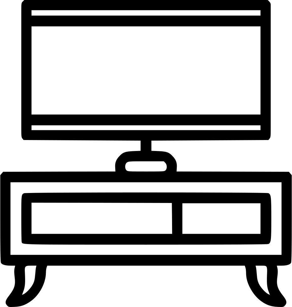 Dresser clipart tv stand. Svg png icon free