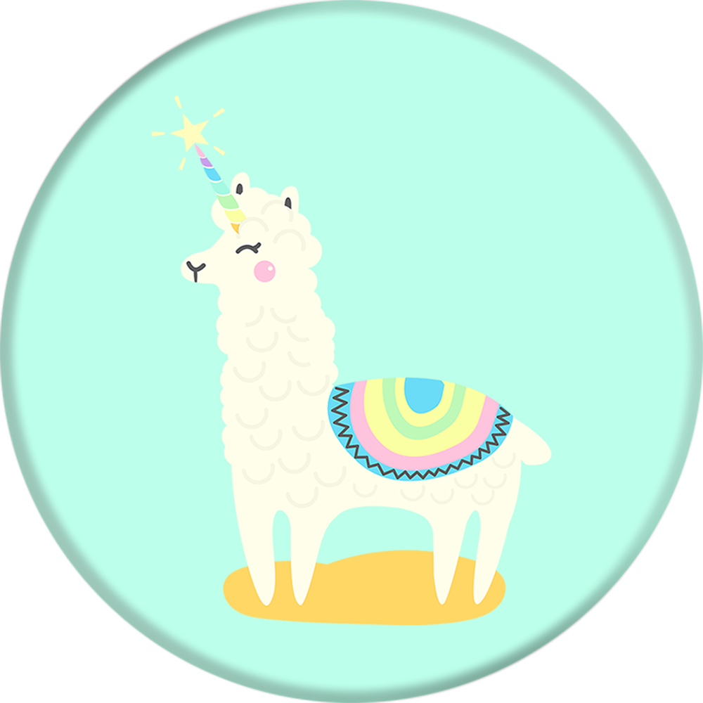 Llamacorn popsocket phone grip. Cookbook clipart family consumer science