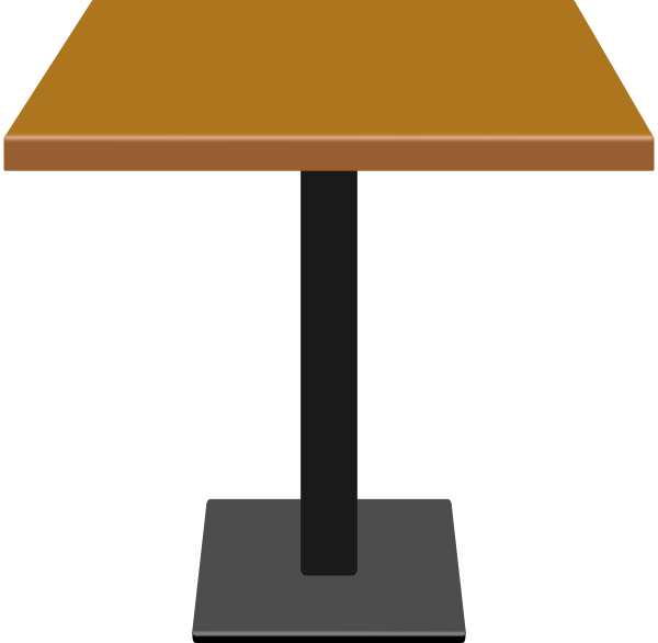Small clip art at. Clipart table wood table