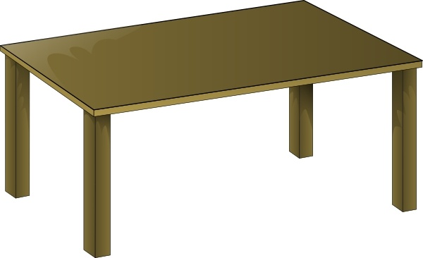 Clip art free vector. Clipart table wooden table
