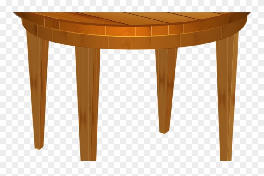 Clipart table wooden table. Cartoon wood thing round