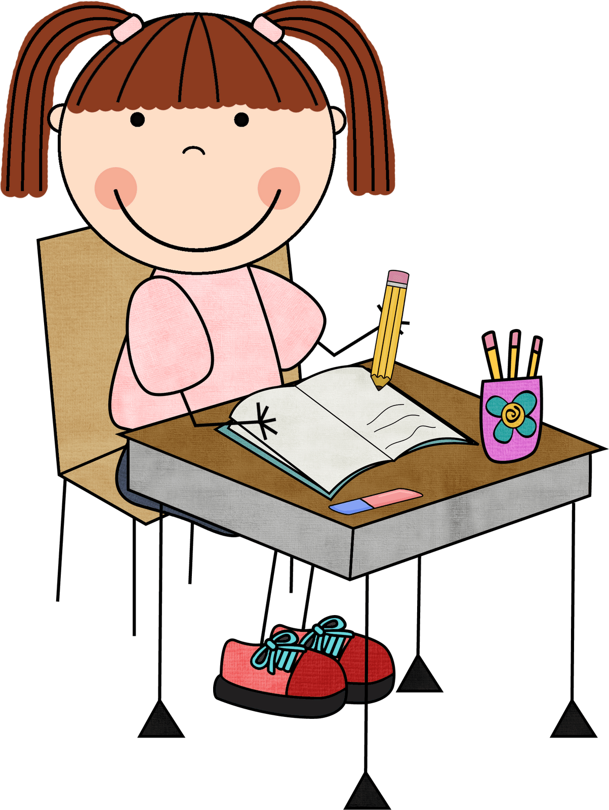 collection of doing. Writer clipart one student