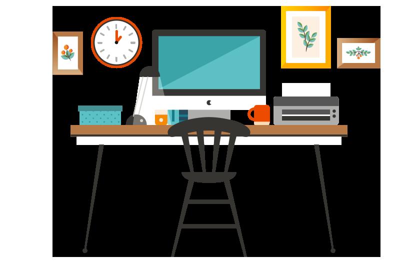 Underscore media we design. Clipart table work table