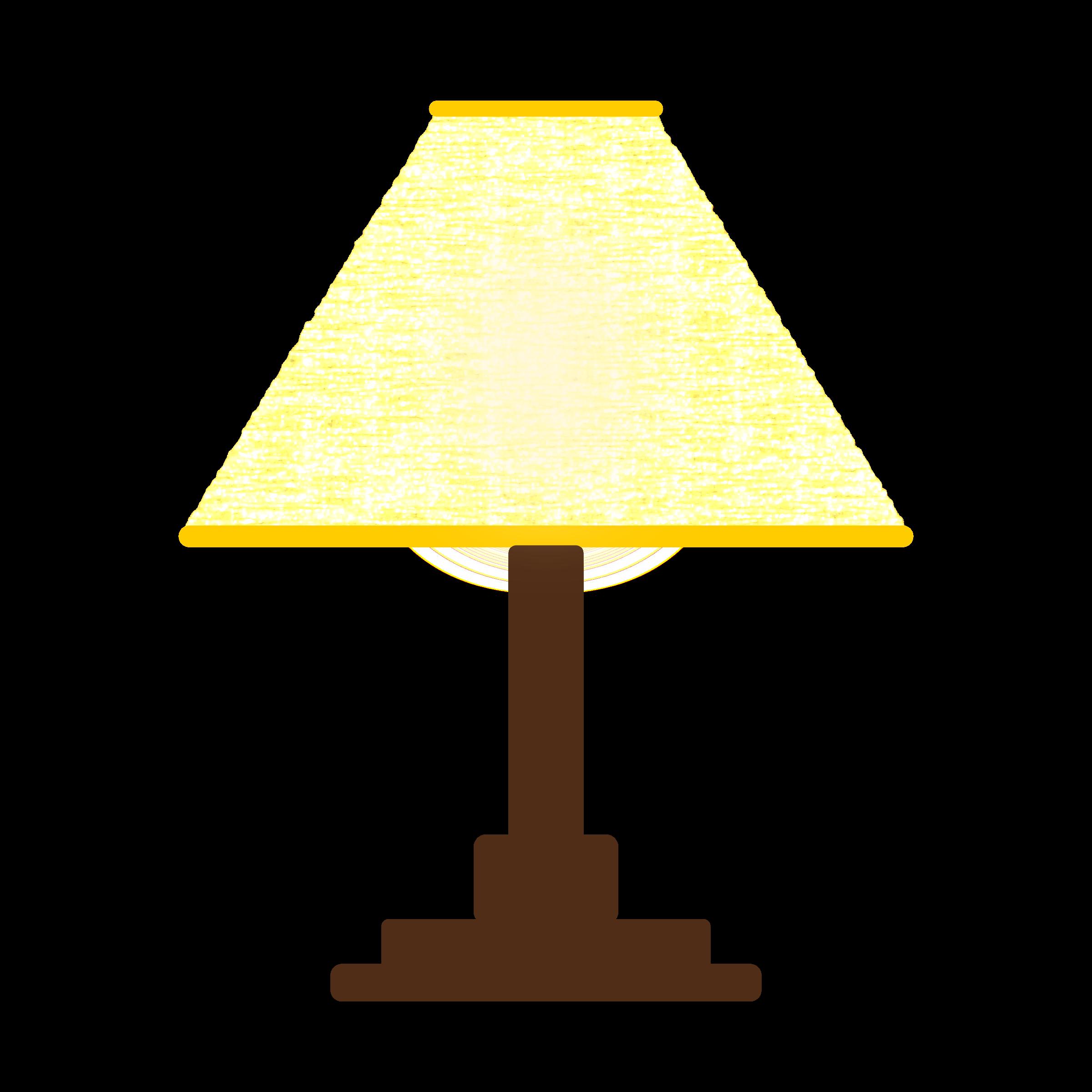 Yellow shade simple three. Lamp clipart light