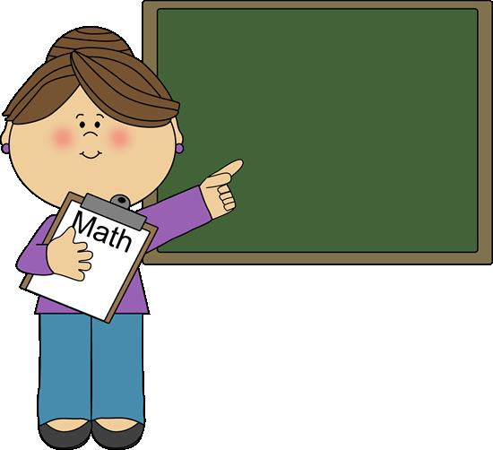 Animated clipart teacher. Female math