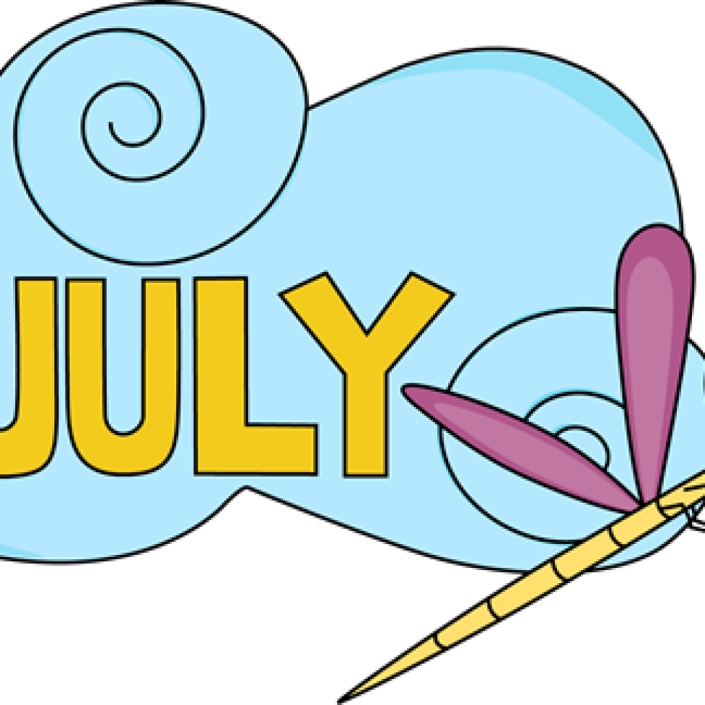 July clipart month name. Banner hatenylo com clip