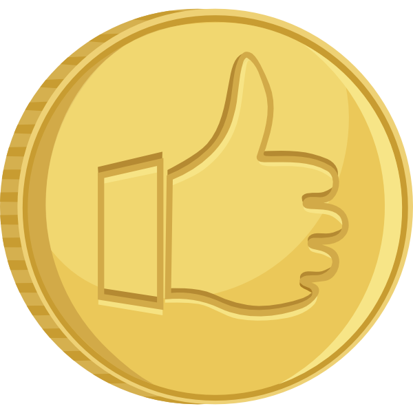 Thumbs up clip art. Coin clipart real gold