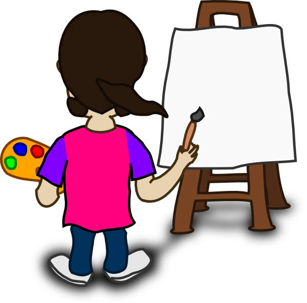 Cartoon character painting blank. Rabbi clipart pious