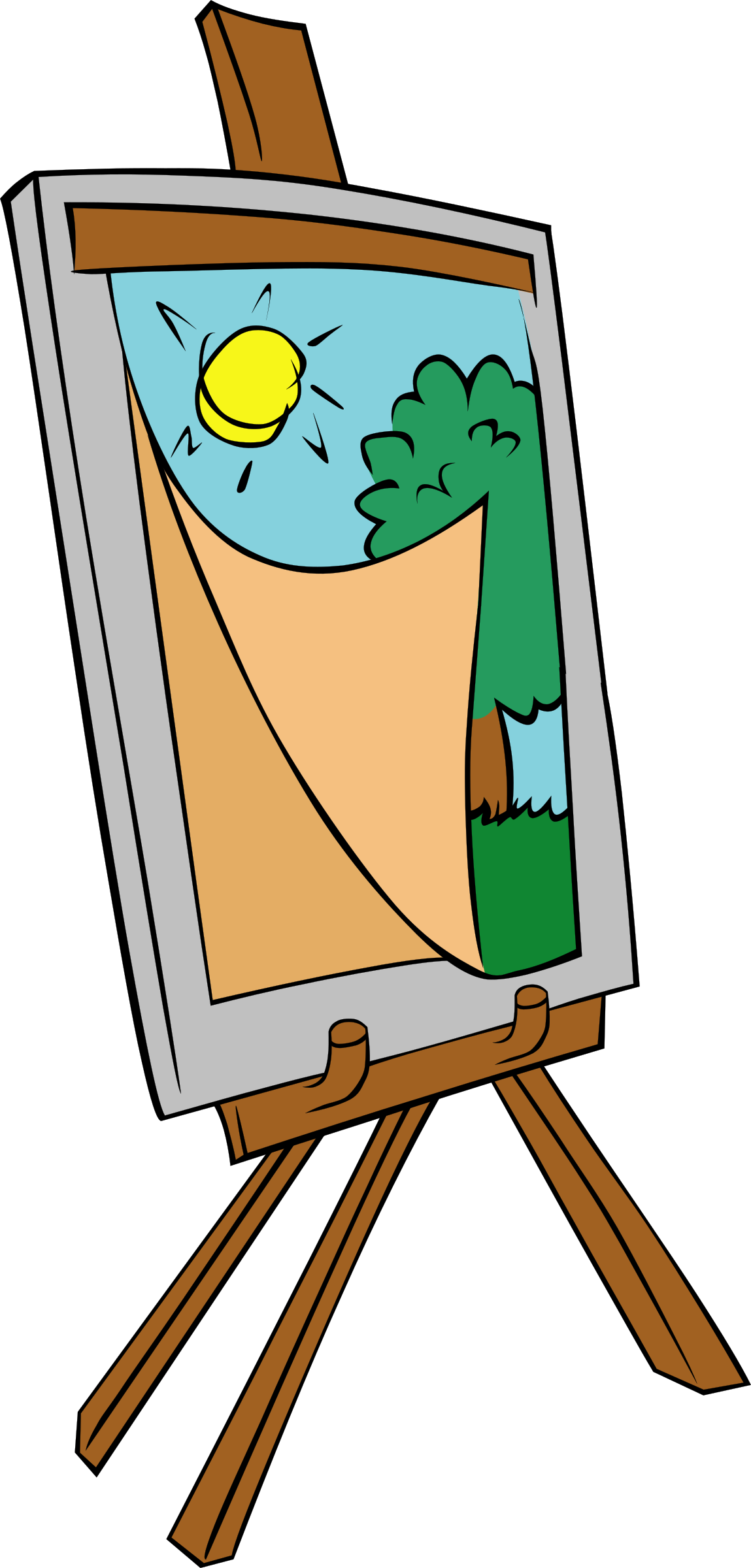 Painter clipart clip art.  collection of painting