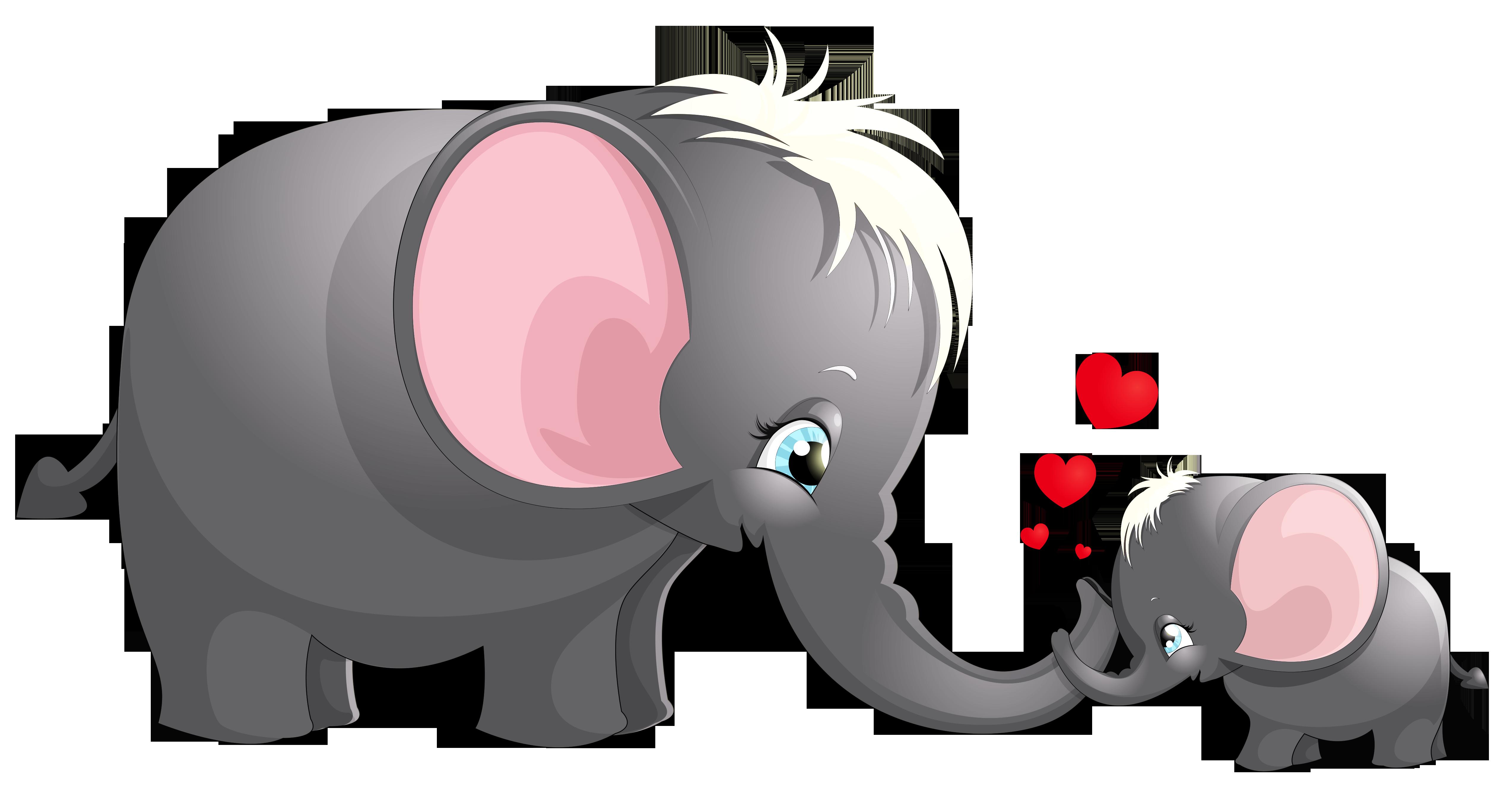 Elephants clipart heart, Elephants heart Transparent FREE ...