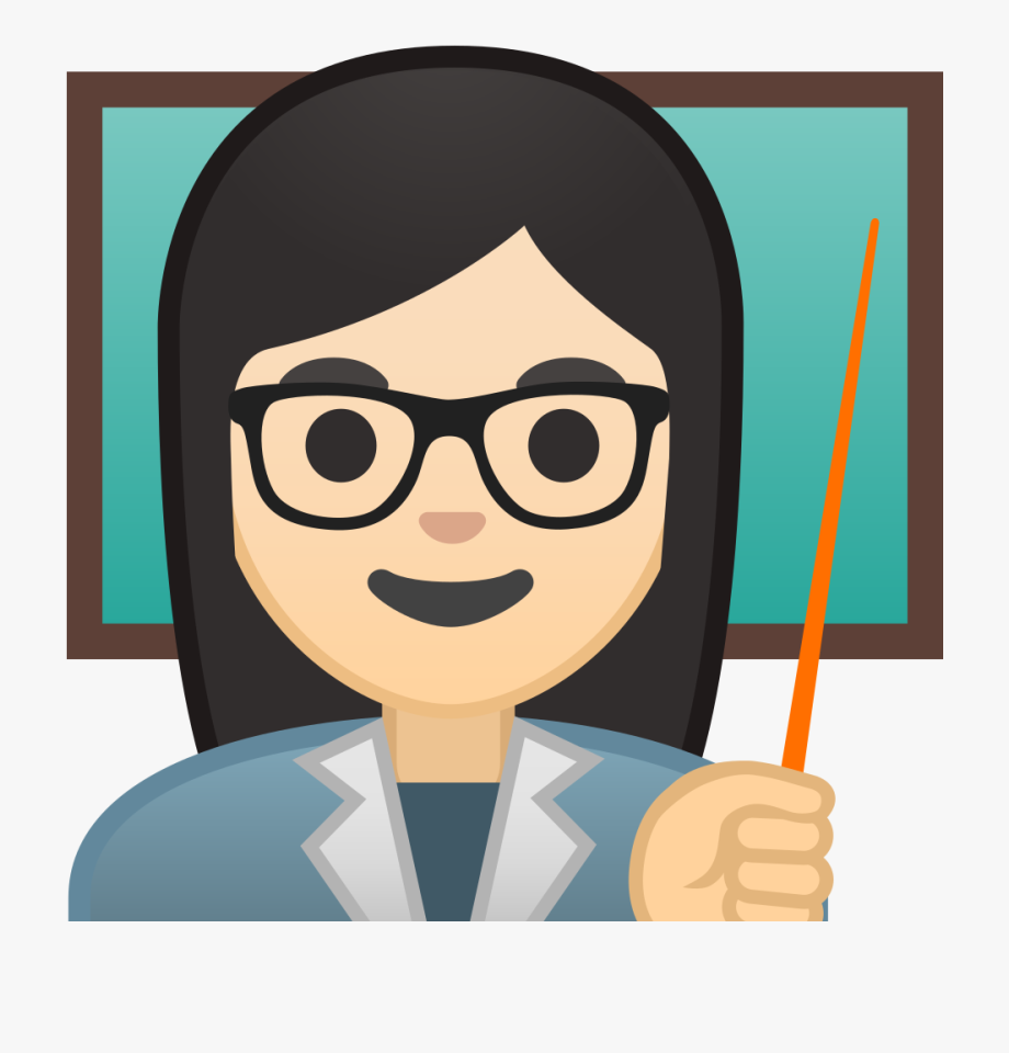 Emoji clipart teacher. Woman light skin tone