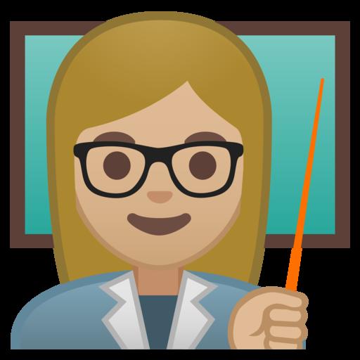 Hair school transparent . Emoji clipart teacher
