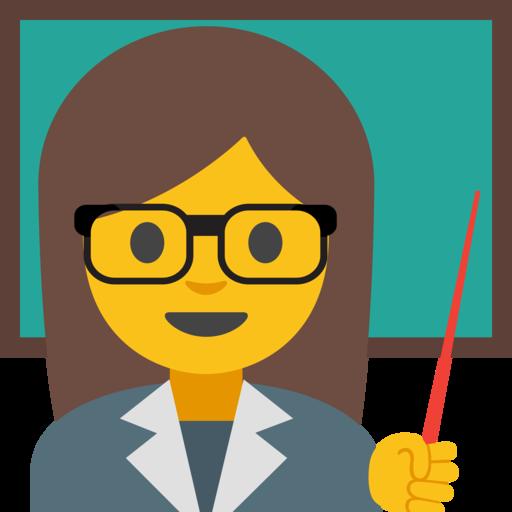 Emoji clipart teacher.