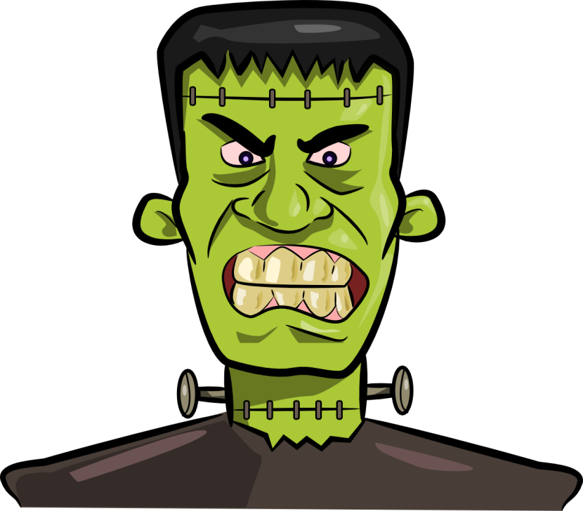 Clipart teacher halloween. Frankenstein pencil and in
